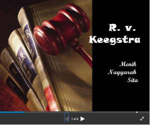 Regina v Keegstra criminal case in review slideshare on Linkedin