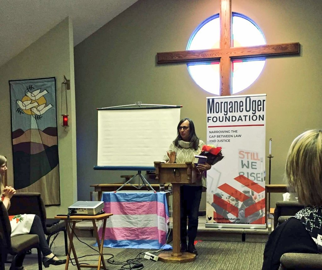 Morgane Oger speaks about faith and transgender living in Kamloops in March 2019 days after winning a groundbreaking human rights case