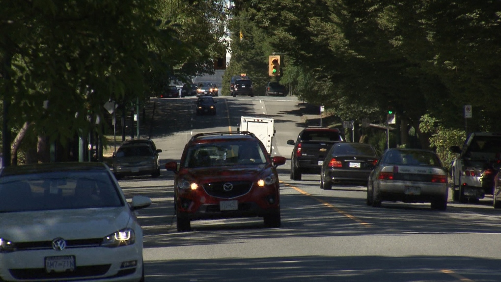 A Car drives down Vancouver's Prior Street. Photo: CTV