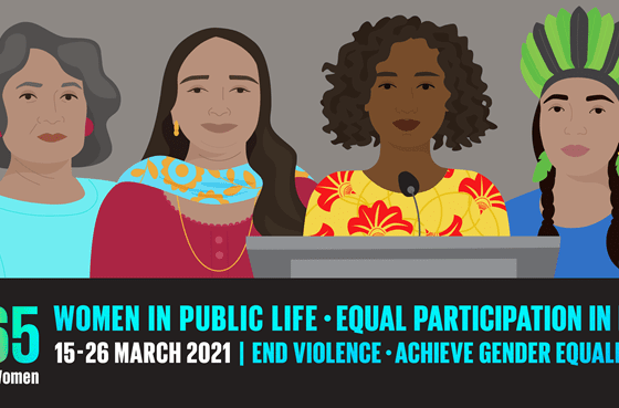 Women in public life - equal participation in decision making - end violence - achieve gender equality #CSW65